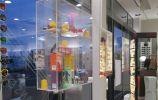 nayla pallard design Niche crystal clear exposition vitrine