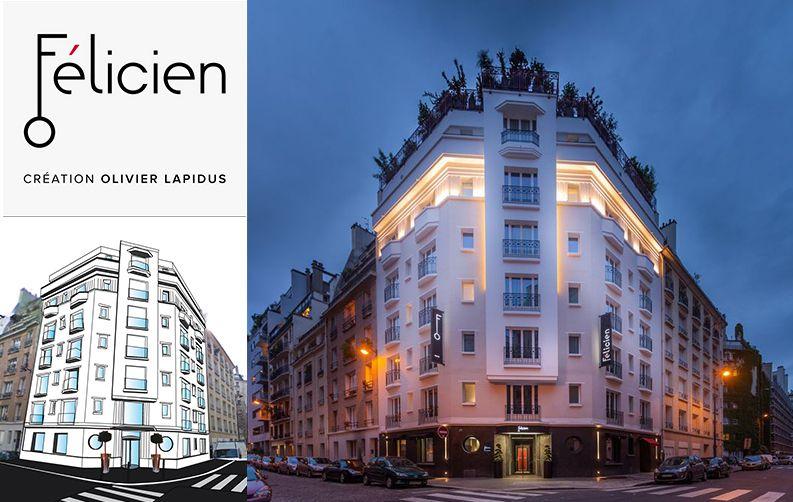 Hôtel Félicien, APS pour Olivier Lapidus