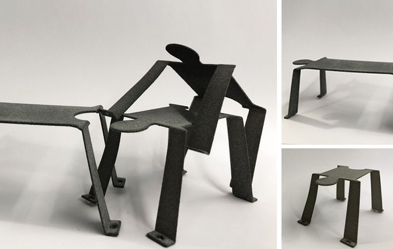 nayla pallard design, l'ailleurs, Le Surréalisme, tabouret, chaise, empilable