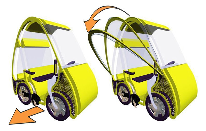 Nayla Pallard Design prospectif Renault voiture vélo électrique ville