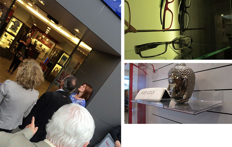 Inauguration Lure Optique Nayla Pallard Design Sapeur Camamber opticiens mutualistes audition Mutualiste retail espace comemrcial